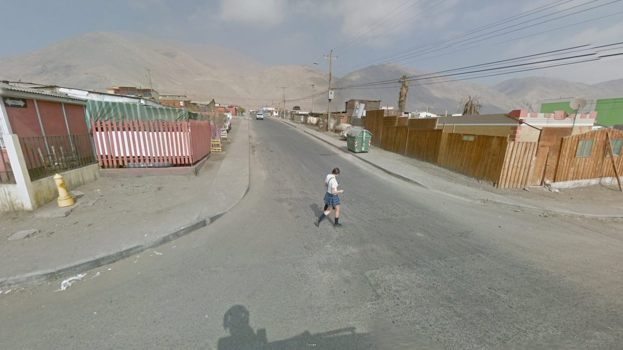 A view of a street in the Antofagasta Region in Chile.  Photo by Jacqui Kenny/Google Street View