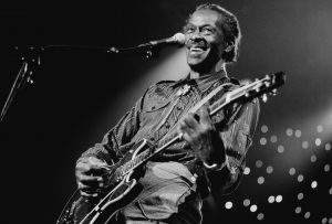 Chuck Berry, vocal-guitar, performs at the North Sea Jazz Festival in the Hague, Netherlands on 14th July 1995