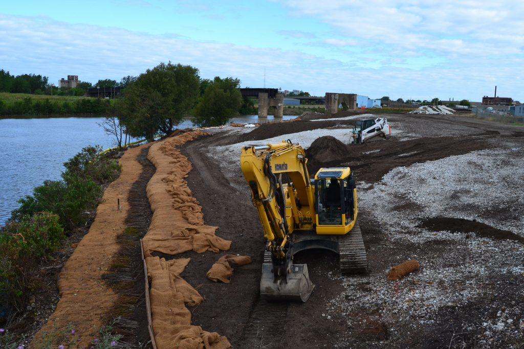 Habitat restoration work continues along the Buffalo River, a project expected to be complete by 2019. Photo Courtesy of Buffalo Niagara Riverkeeper