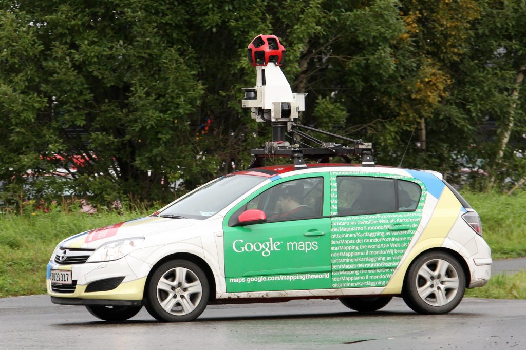 A Google Street View car is driven in Sundsvall, northern Sweden September 13, 2011. Street View, which enables users of Google Maps to view photos of streets as well, has been around since 2007 -- sending its cars out to take photos of city streets -- and covers about 30 countries. Photo by Fabrizio Bensch/Reuters