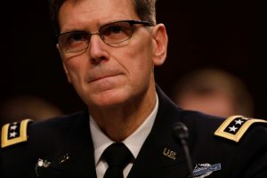 U.S. Army Gen. Joseph Votel, commander of the U.S. Central Command, testifies before the Senate Armed Services Committee
