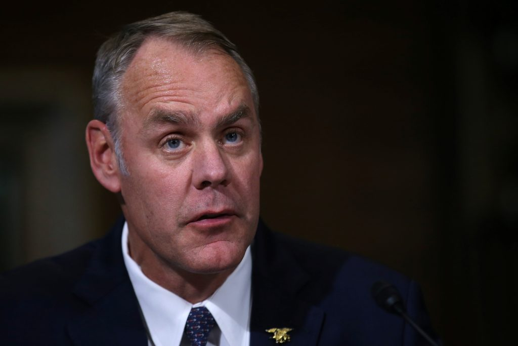 U.S. Representative Ryan Zinke (R-MT), a former Navy SEAL commander, testifies before a Senate Energy and Natural Resources Committee confirmation hearing on his nomination to be Interior Secretary at Capitol Hill in Washington, U.S., January 17, 2017. REUTERS/Carlos Barria - RTSVYKW