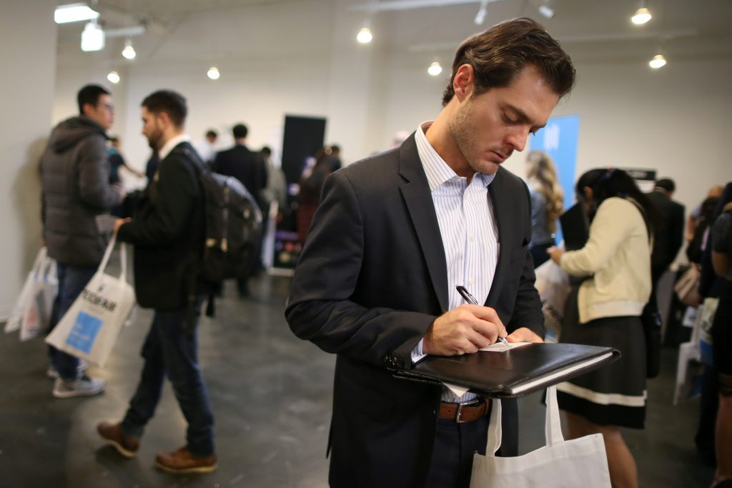 People Attend TechFair LA, A Technology Job Fair, In Los Angeles,  California,
