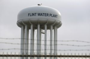 The Flint Water Plant tower is seen in Flint, Michigan, U.S. on February 7, 2016.   Photo by Rebecca Cook/REUTERS