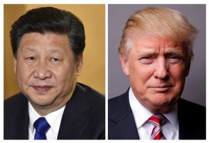 A combination of file photos showing Chinese President Xi Jinping (L) and U.S. President Donald Trump. Photo by Toby Melville/Lucas Jackson/Reuters