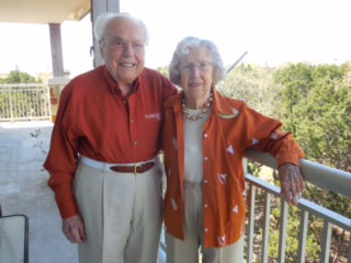 John Henderson and his wife of 77 years, Charlotte, live in Austin in the independent living section of Longhorn Village, a community of more than 360 seniors. They were the first people to move into the retirement community when it opened. (Sharon Jayson for KHN)