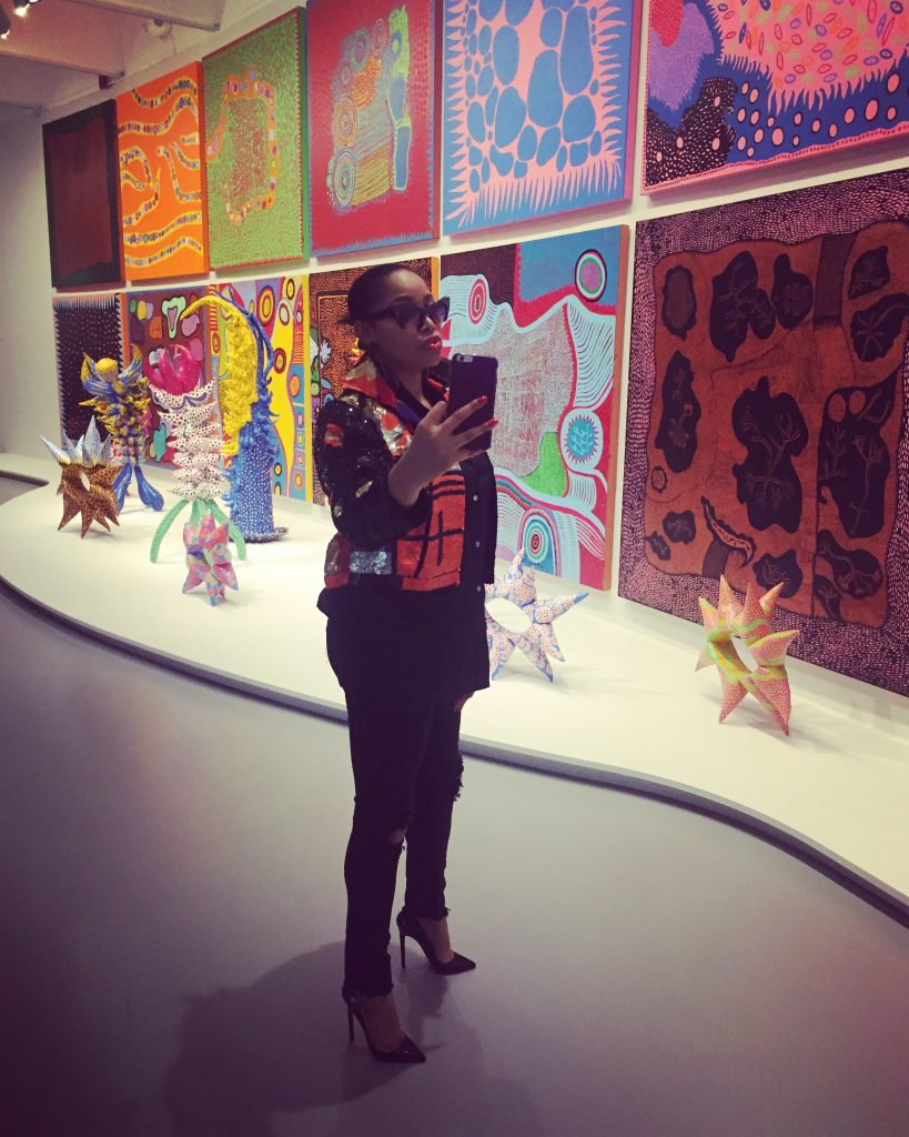 Abby Johnson, who works in fashion, came to the Kusama exhibit a second time just to take more selfies.