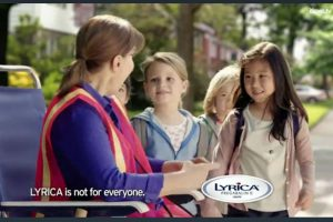 A screenshot from an ad by Pfizer, the maker of Lyrica. Photo by iSpot.tv