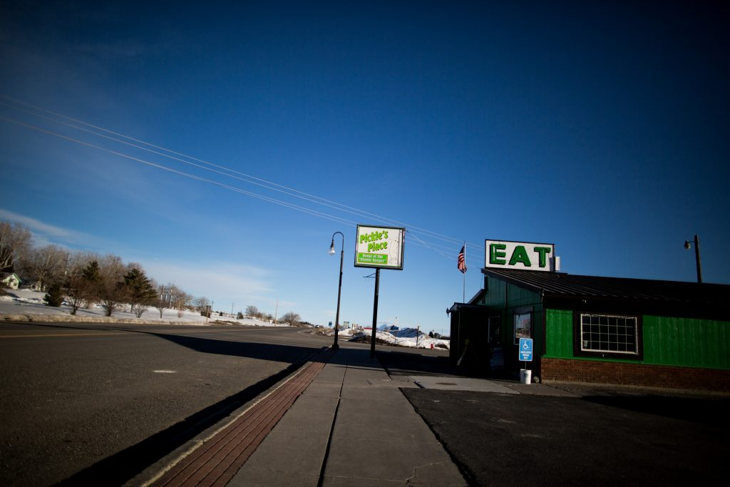 Pickle's Place restaurant on the outskirts of Arco, Idaho. Photo by M. Scott Mahaskey/POLITICO