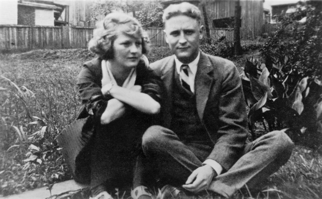 Zelda Sayre and F. Scott Fitzgerald in the Sayre home in Montgomery, Alabama, in 1919. The following year Scott and Zelda would marry. | Location: near Montgomery, Alabama, USA.