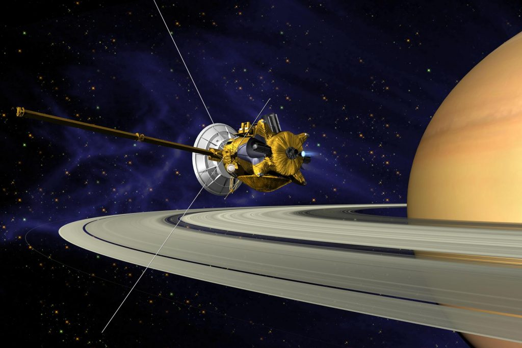 An artist's rendering of NASA's Cassini orbiter. Photo by NASA.