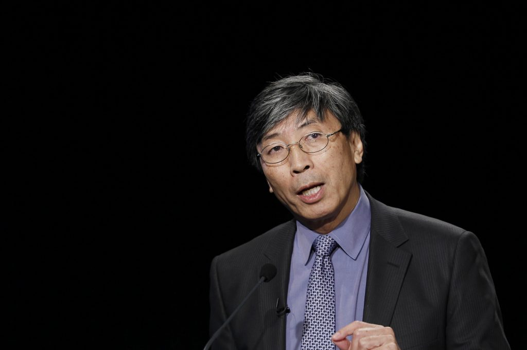 Patrick Soon-Shiong speaks at the Newseum in Washington