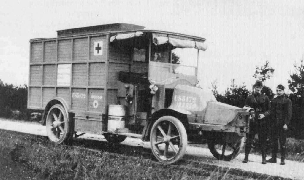 A Renault truck outfitted with mobile X-ray equipment to help doctors in the field is seen in an undated World War I photo. Handout via U.S. Army from Reuters