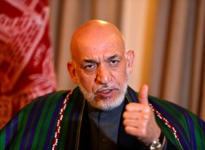 Former Afghan president Hamid Karzai speaks during a 2014 interview in Kabul. Photo by Omar Sobhani/Reuters