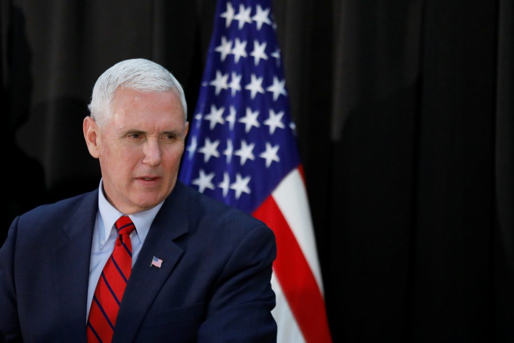 File photo of Vice President Mike Pence by Kim Hong-Ji/Reuters