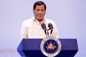 Philippine President Rodrigo Duterte speaks during the opening ceremony of the 30th ASEAN Summit in Manila