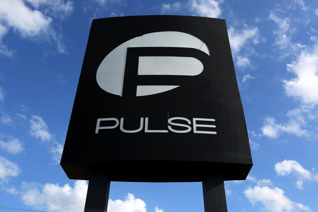 The Pulse nightclub sign is pictured following the mass shooting in June in Orlando, Florida. Photo by Carlo Allegri/File Photo/Reuters