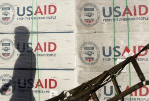 File photo of boxes from the U.S. Agency for International Development by Cheryl Ravelo/Reuters