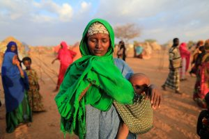 Hundreds of thousands of Somalis had to leave their homes in drought-struck areas to find food and water. Photo by Zohra Bensemra/Reuters