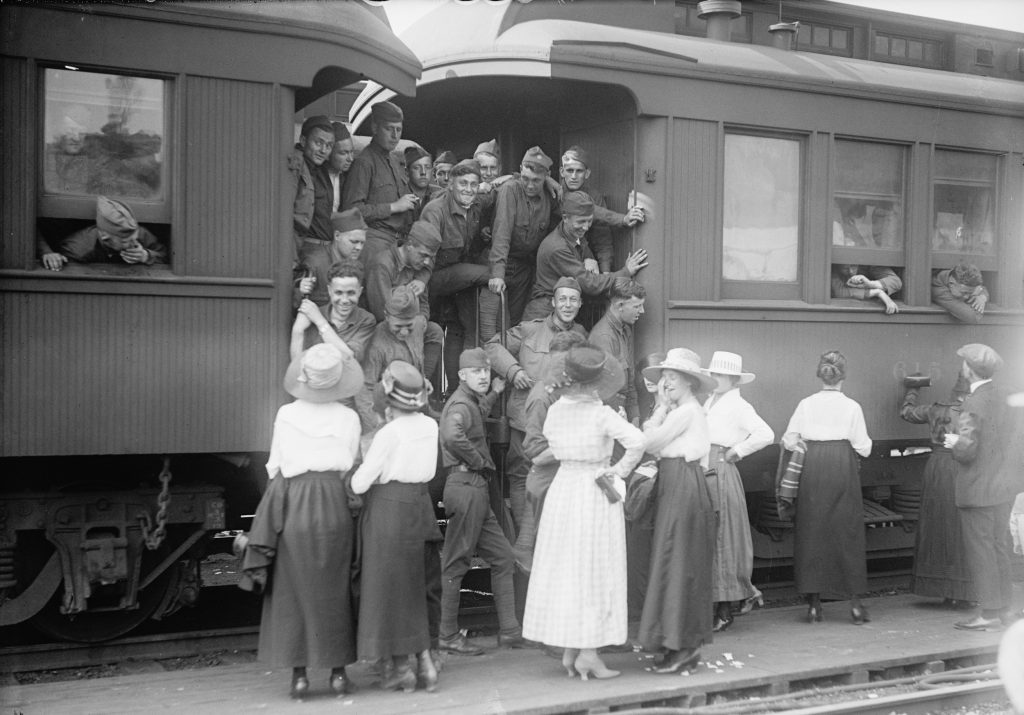U.S. soldiers return to Washington, D.C. in an undated photo following service in World War I. Image courtesy of the Library of Congress/Handout via Reuters