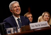Neil Gorsuch will be sworn in as the newest Supreme Court justice April 10.  File photo by REUTERS/Jonathan Ernst.