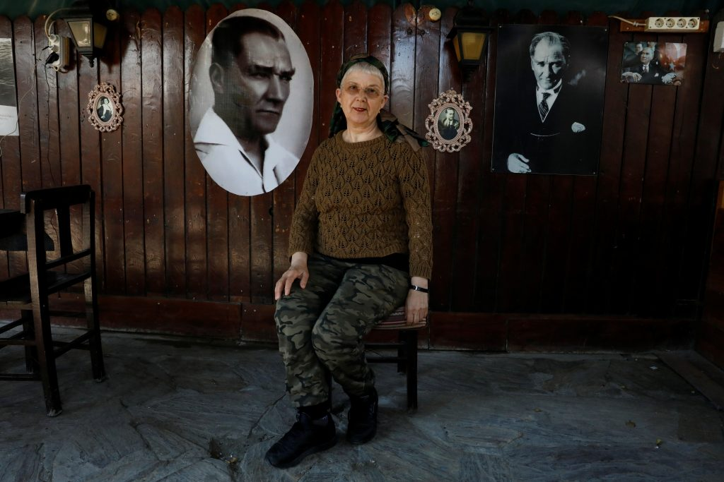 "NO: Businesswoman Dilsat Gulsevim Arinc, 68, in her cafe in Cesme in Izmir province defines herself as ""modern and a Kemalist"". ""I don't want someone to rule us like a sultan on his throne. I don't think a 'No' result in the referendum will stop Erdogan but it would be a useful lesson for him. He is too authoritarian. If things go on like this, it will not take more than 10 years for Turkey to come to an end."" Photo by Umit Bektas/Reuters"