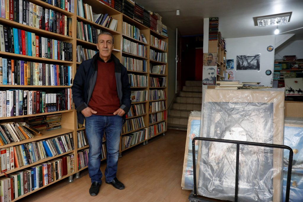 "NO: Armen Demirjiyan, 55, a bookseller and member of a small Armenian community in largely Kurdish Diyarbakir says, ""I am a leftist. I will vote for 'No'. One man should not rule the country."" Belonging to Turkey's Armenian community raises different issues for Demirjiyan. ""I discovered that I was Armenian when I was 27 years old. My uncle said it at my father's funeral. The AK Party did not do enough for Armenians. Armenian schools are still teaching according to the Turkish system. Turkey's biggest problem is that it does not recognize the Armenian massacre as genocide. If Turkey continues this way, it will be like Syria. Turkey must be a member of the EU."" Photo by Umit Bektas/Reuters"
