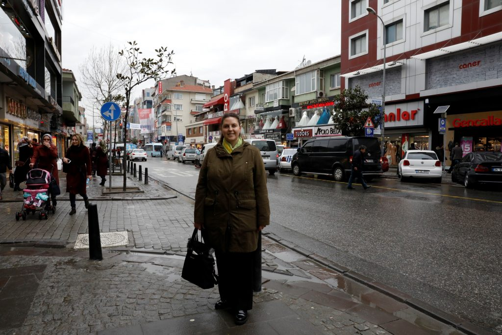 "YES: Housewife Merve Songur, 37, in Istanbul says, ""I will say 'Yes' because all these changes are necessary for the good of this country. Erdogan is a real leader, to love him is different from any other kind of love. The European Union has double standards; they think Muslims are terrorists."" Photo by Umit Bektas/Reuters"