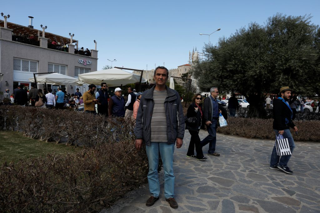 "NO: Retired banker Mehmet Emin Erelvanli, 62, in Cesme says, ""Journalists are being jailed. He appoints ministers, judges, prosecutors, university rectors etc. He already has enough power but is still asking for more. If this goes on, it will end very badly."" Photo by Umit Bektas/Reuters"