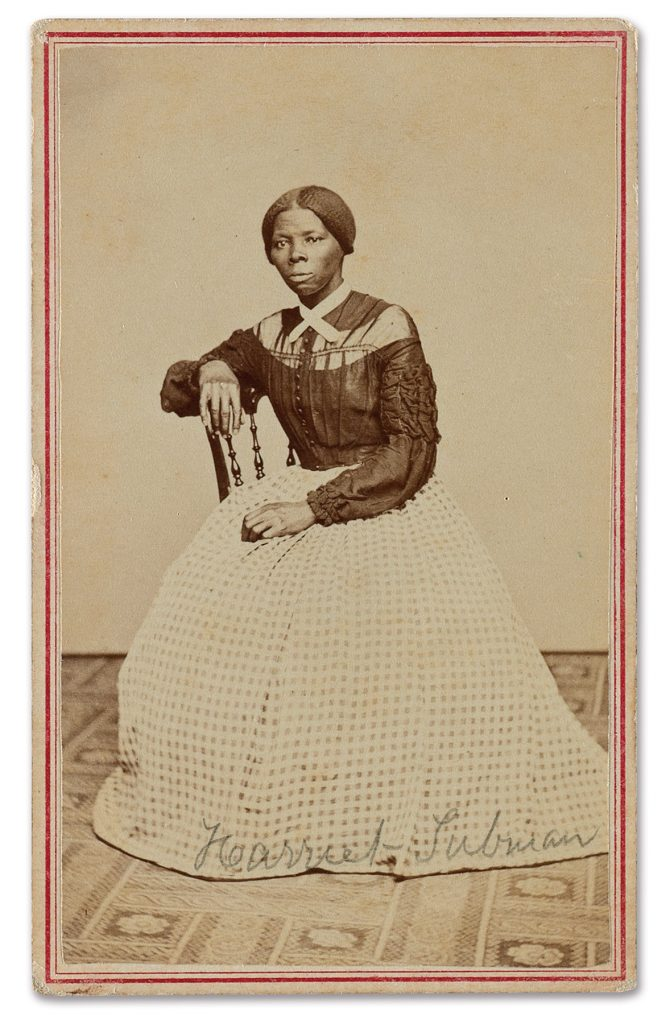 Harriet Tubman, circa 1860s, from the photo album of Emily Howland (1827–1929), a Quaker school teacher, recently acquired by the Smithsonian National Museum of African American History and Culture and the Library of Congress. Images provided by LOC/NMAAHC