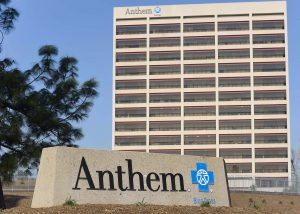 The office building of health insurer Anthem is seen in Los Angeles, California . Photo by REUTERS/Gus Ruelas.