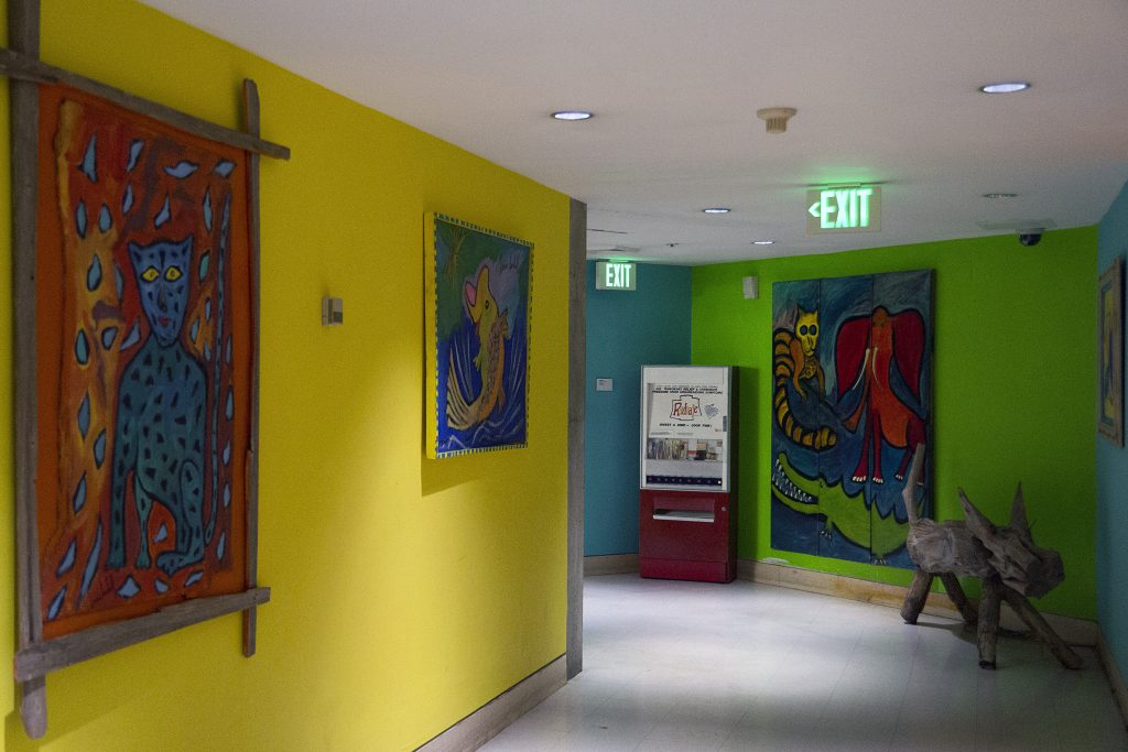 Brian Dowdall's paintings on display at the American Visionary Art Museum. Credit: AVAM