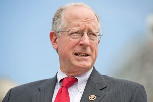 Rep. Mike Conaway, R-Texas, conducts a 2015 news conference at the House triangle. Photo By Tom Williams/CQ Roll Call.