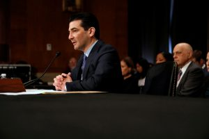 Dr. Scott Gottlieb testifies before a Senate Health Education Labor and Pension Committee confirmation hearing on his nomination to be commissioner of the Food and Drug Administration on Capitol Hill in Washington, D.C. Photo by REUTERS/Aaron P. Bernstein.