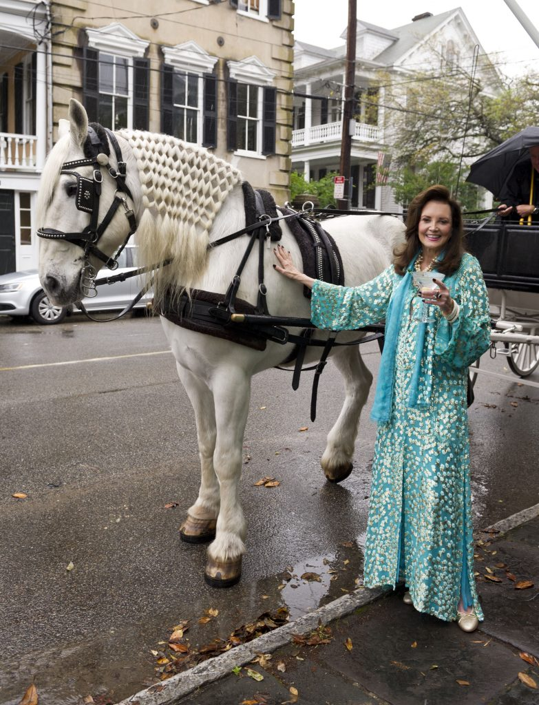 "EXCLUSIVE: EXCLUSIVE: Patricia Altschul of ""Southern Charm"" shows how to throw a Kentucky Derby party at her Charleston, SC home on April 29th 2015. Ref: SPL1212254 180515 EXCLUSIVEPicture by: Wermiel/NY Post / Splash NewsSplash News and PicturesLos Angeles: 310-821-2666New York: 212-619-2666London: 870-934-2666photodesk@splashnews.com"