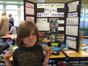 Declan presenting at the science fair. Photo by Cameron Hickey