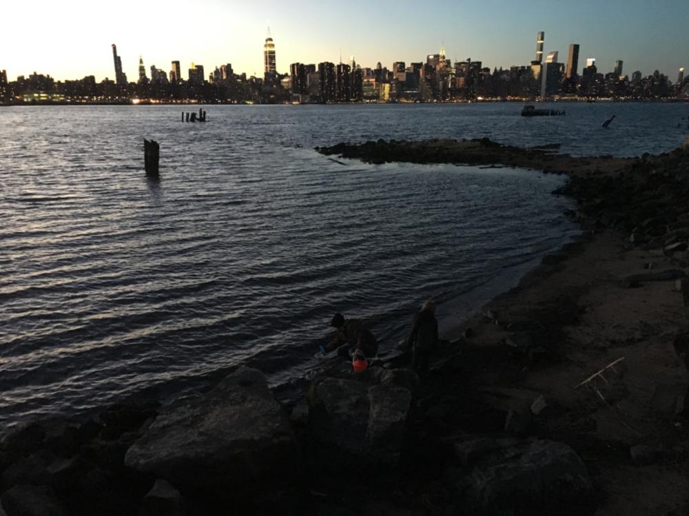 East River sampling. Photo by Lauren Feeney