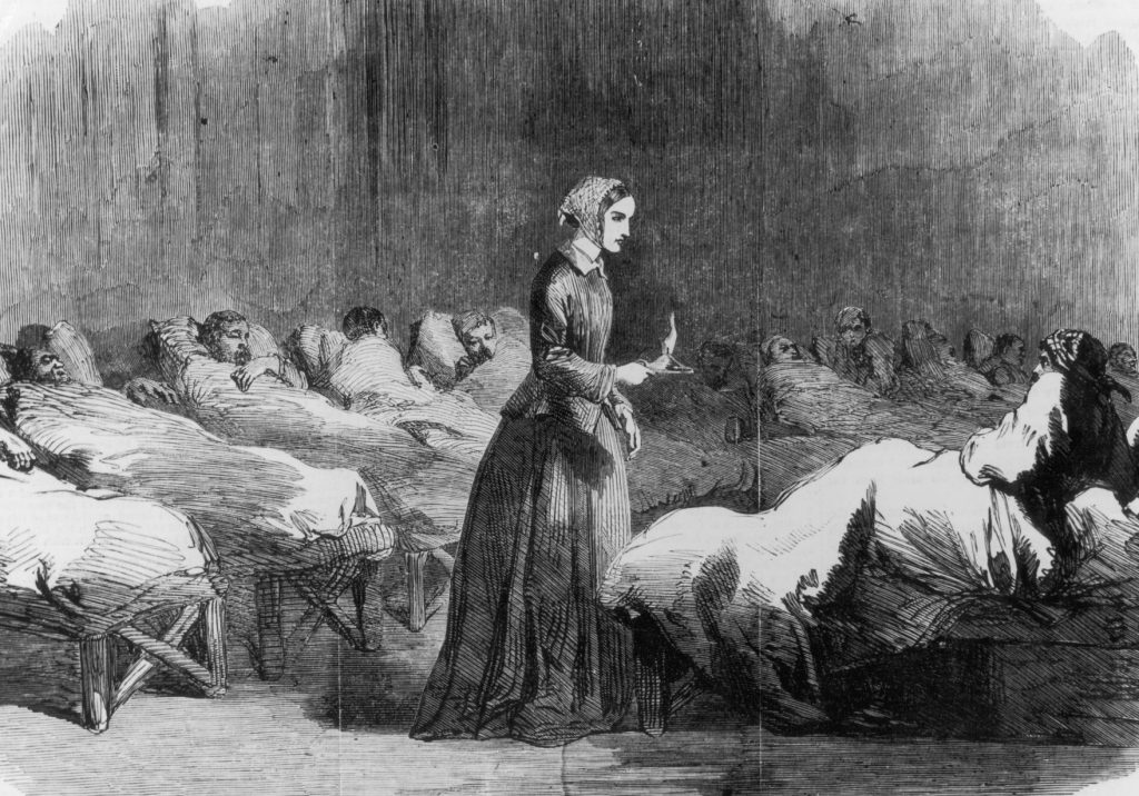 how florence nightingale cleaned up hell on earth hospitals and british nurse florence nightingale 1820 1910 makes her rounds in the barrack hospital