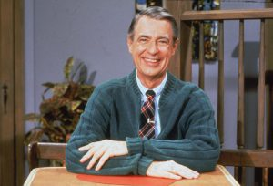 "Portrait of American educator and television personality Fred Rogers of the television series ""Mister Rogers' Neighborhood,"" circa the 1980s. Photo by Fotos International/Courtesy of Getty Images"