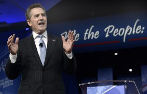 Jim DeMint speaks to the Conservative Political Action Conference on February 23, 2017.  Photo by Mike Theiler/Getty Images