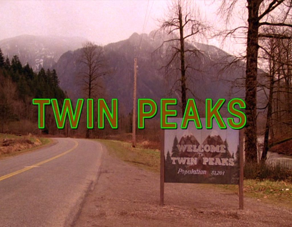 The title scene from the pilot episode of the television series 'Twin Peaks,' originally broadcast on April 8, 1990. Photo by CBS Photo Archive/Getty Images