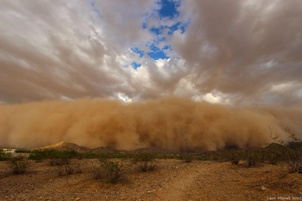 Dust storm in Goodyear, Arizona on July 21, 2012. Photo by Lauri Mlejnek