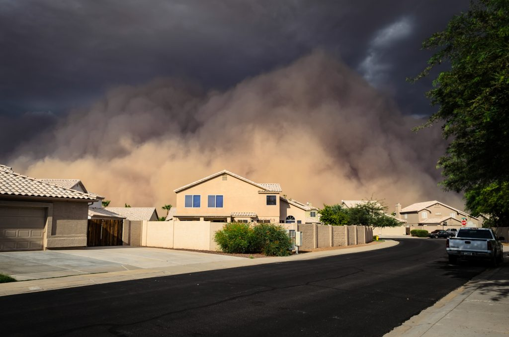 Dust storm in Gilbert, Arizona on July 21, 2012. Photo by Joseph Plotz