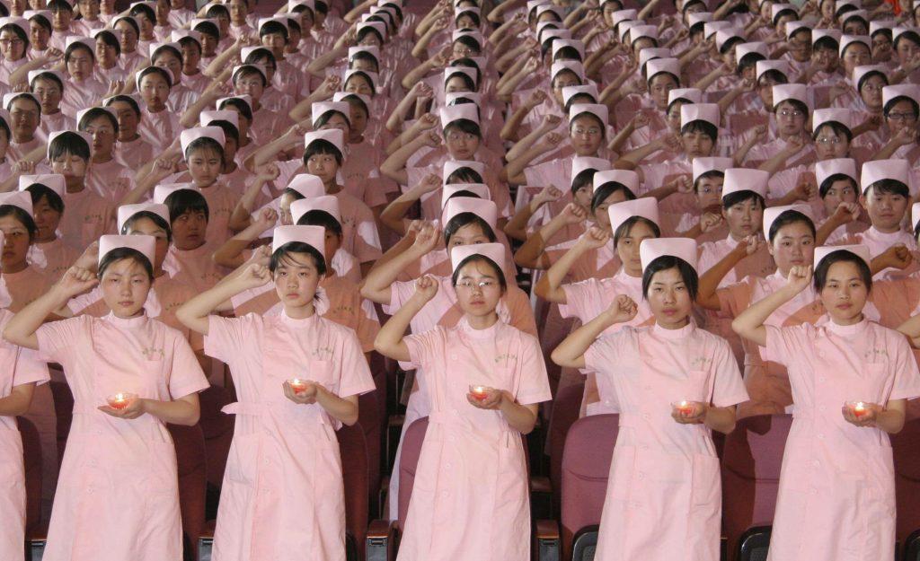 Graduating nurses