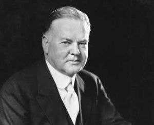 President Herbert Hoover in an undated photograph courtesy of the Library of Congress.