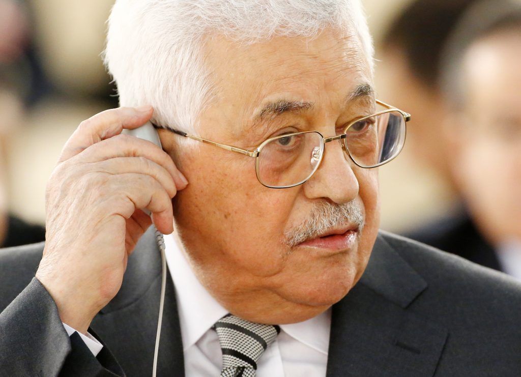 File photo of Palestinian President Mahmoud Abbas by Denis Balibouse/Reuters