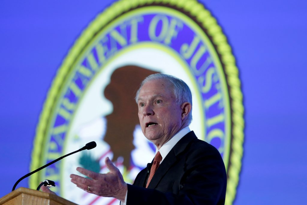 Attorney General Jeff Sessions delivers remarks at the Ethics and C…