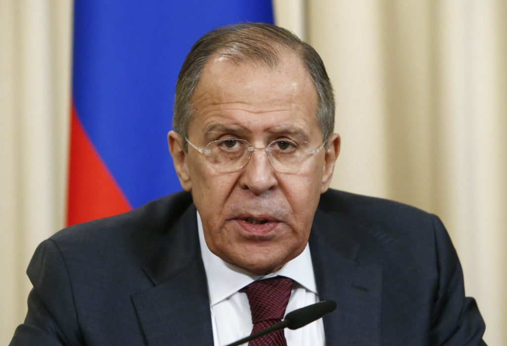 File photo of Russian Foreign Minister Sergey Lavrov by Sergei Karpukhin/Reuters