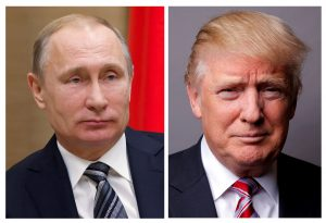 A combination of file photos showing Russian President Vladimir Putin and U.S. President Donald Trump. Photos by Ivan Sekretarev and Lucas Jackson/Reuters