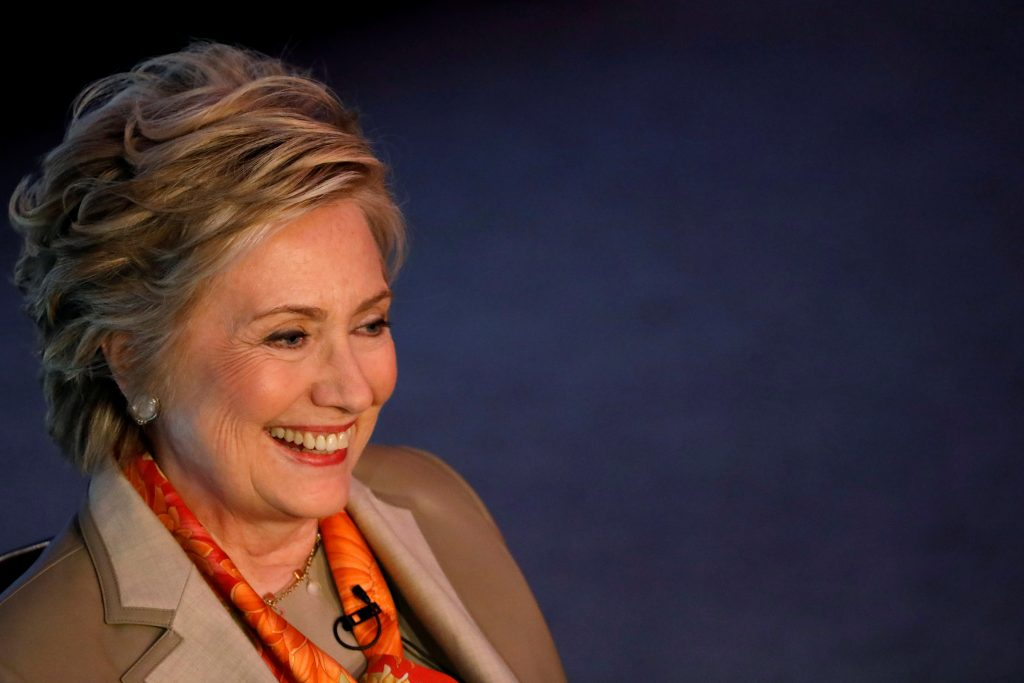 Former Secretary of State Hillary Clinton takes part in the Women for Women International Luncheon in New York. Photo by B...